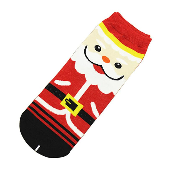3D Printed Christmas Socks Women Unisex Low Cut Ankle Socks Animal Design Women's Casual Comfortable Cotton Crew Socks