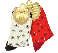 Meso 5 Pairs Pack Women? Girls Angora Lambs Wool Socks Snowflakes Size 7-9 Multi Color