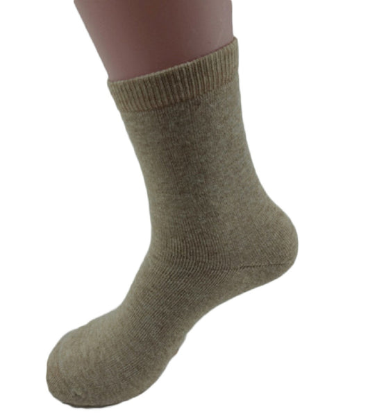 Lovely Annie Men's 1 Pair Thick Cashmere Wool Socks Plain Color Size 8-11