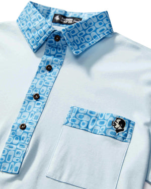 Load image into Gallery viewer, The Hard Collar Golf Shirt BLUE GALAXY