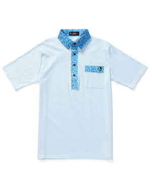 The Hard Collar Golf Shirt BLUE GALAXY