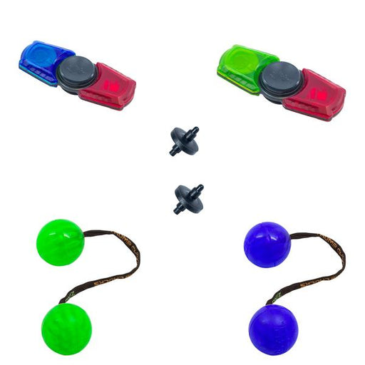 2x thumbchucks and 2x spinbladez set