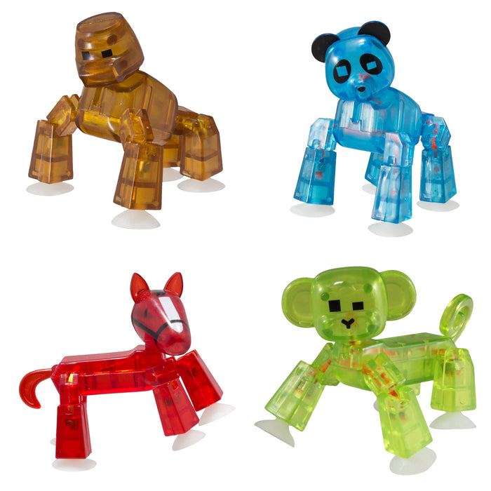 Stikbot wide animal : Panda, Gorilla, Monkey, Horse in Green Tree Eco Friendly Package