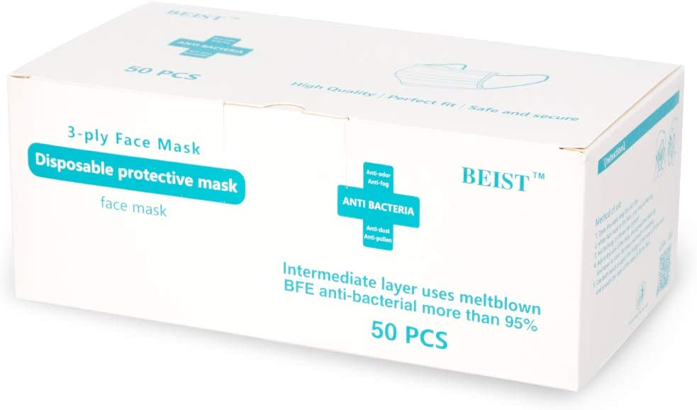Disposable Face Mask – 3-Layer Protective Mask - Pack of 50