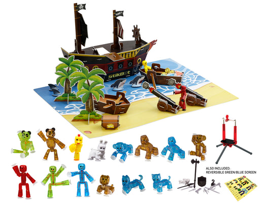 Stikbot Movie Set Deluxe Pack - Pirate Scene