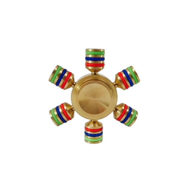 Brass Tri Color Spinner