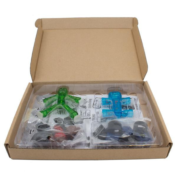 Action Pack : Hair and Helmet set (1 stikbot  + 1 bulldog + Hair set and Helmet set)  in Green Tree Eco Friendly Package