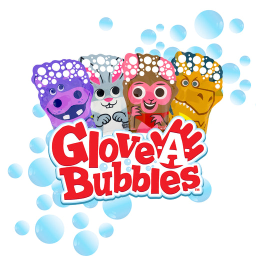 Glove-A-Bubbles 4 Pack: 1 Alligator, 1 Dinosaur , 1 Elephant, 1 Hippo