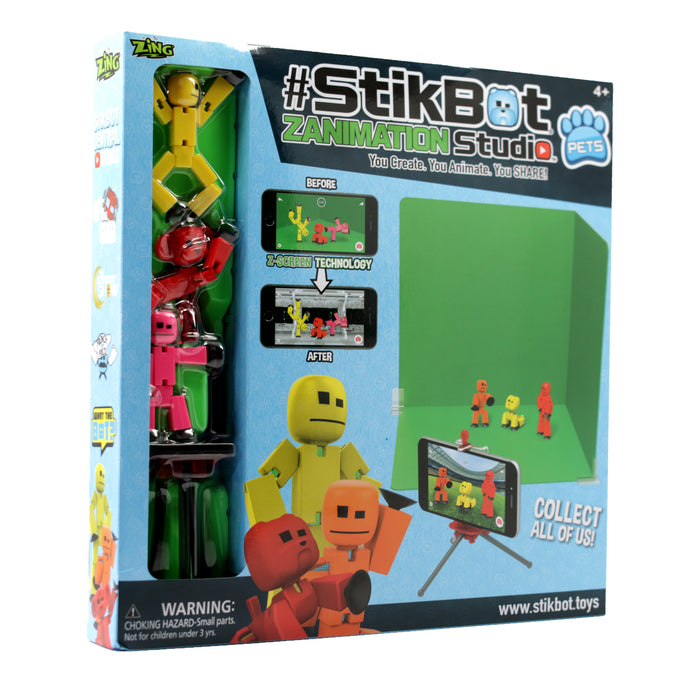 Stikbot Studio Pro Animation Set with Pet