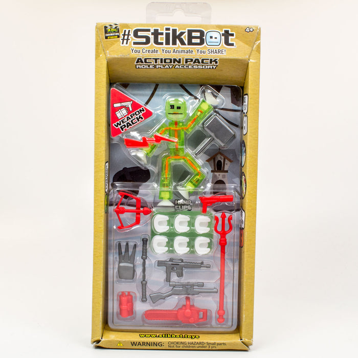 Action Pack : Thor - Clear Lime green bot, thor and other weapon