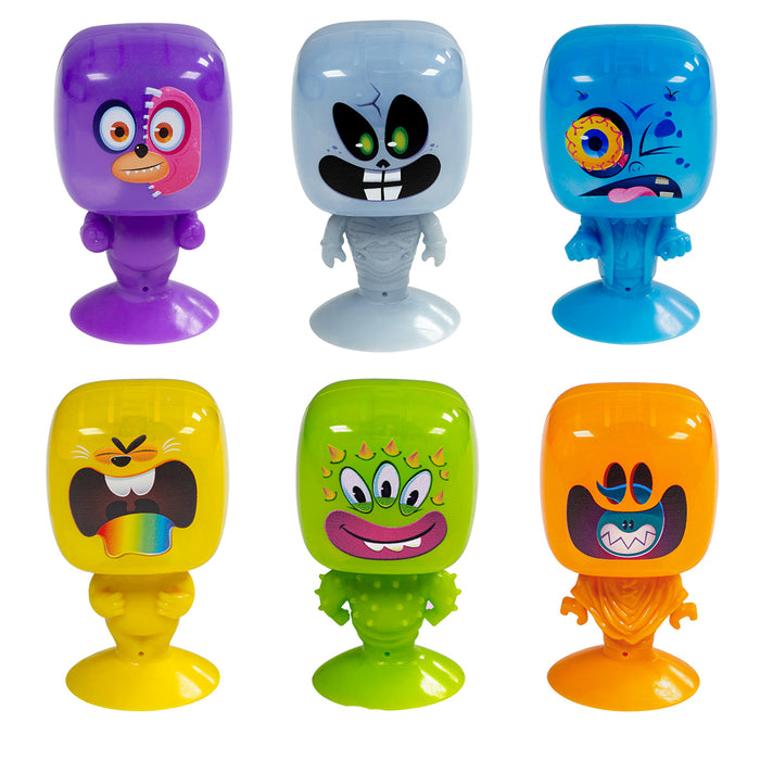 Pop Bot - Light-Up Monster Toys - Suction Cup Base