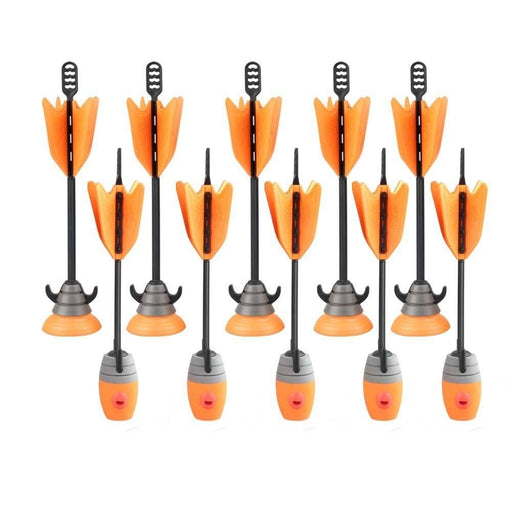 10 Suction Cup & Whistle Arrows Refill Orange