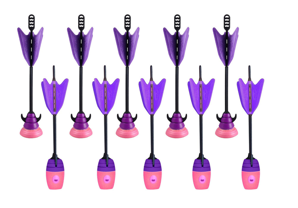 10 Units Extra Arrows Suction Cup Arrows Refills Whistle Arrows Purple