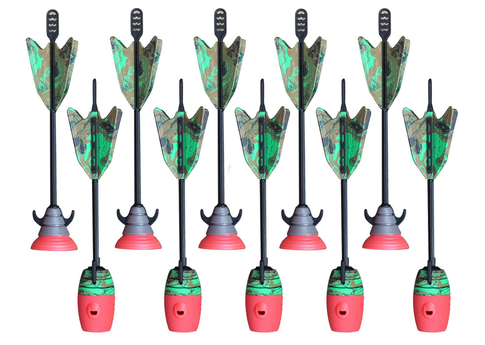 10 Units Extra Arrows Suction Cup Arrows Refills Whistle Arrows Camouflage
