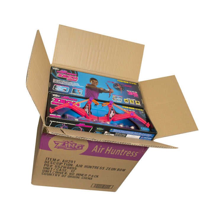 Sport Toys - 12 Air Huntress Firetek Zeon Bow_Full Case Pack Of 12 ( Assorted Color ) 6 Pink And 6 Purple