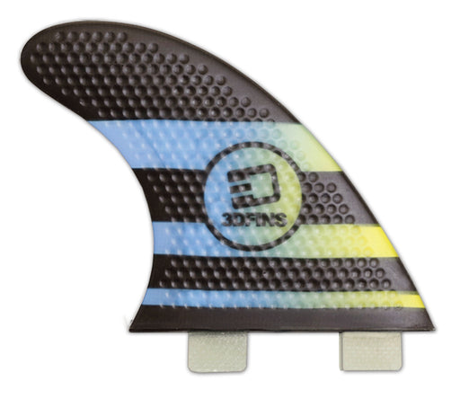 Surfboard Fins - FASTLIGHT 4.0 (Sml) Thruster (FCS Base Compatible)