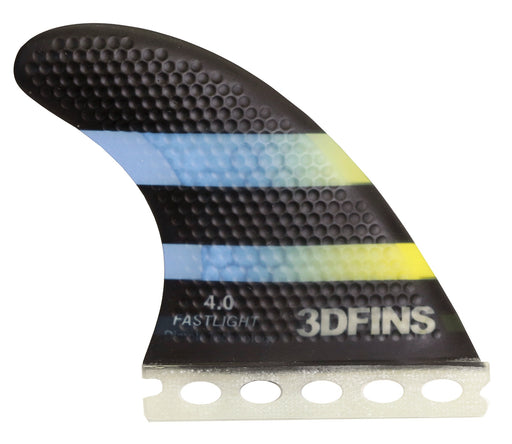 Surfboard Fins - FASTLIGHT 4.0 (Sml) Thruster (Funters Base Compatible)