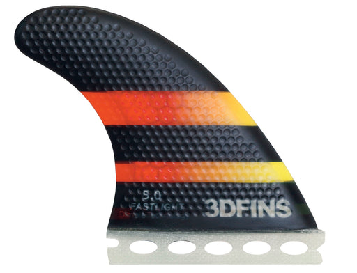 Surfboard Fins - FASTLIGHT 5.0 (Med) Thruster (Futures Base Compatible)