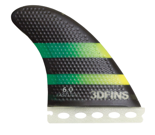 Surfboard Fins - FASTLIGHT 6.0 (Med) Thruster (Futures Base Compatible)
