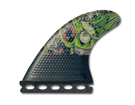 "Surfboard Fins - Josh Kerr ""Darkside"" Carbon Base  4.0 (Sml) Thruster (Futures Compatible)"