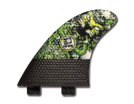Surfboard Fins - Josh Kerr Darkside Carbon Base 6.0 (Med) Thruster (FCS Compatible)