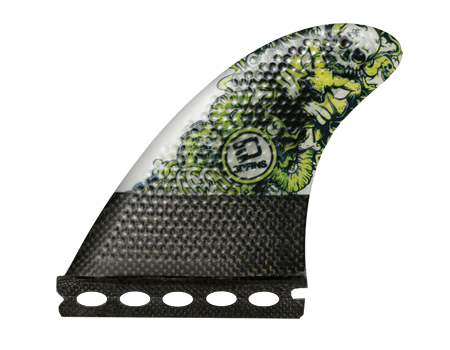 Surfboard Fins - Josh Kerr Darkside Carbon Base 6.0 (Med) Thruster (Futures Compatible)