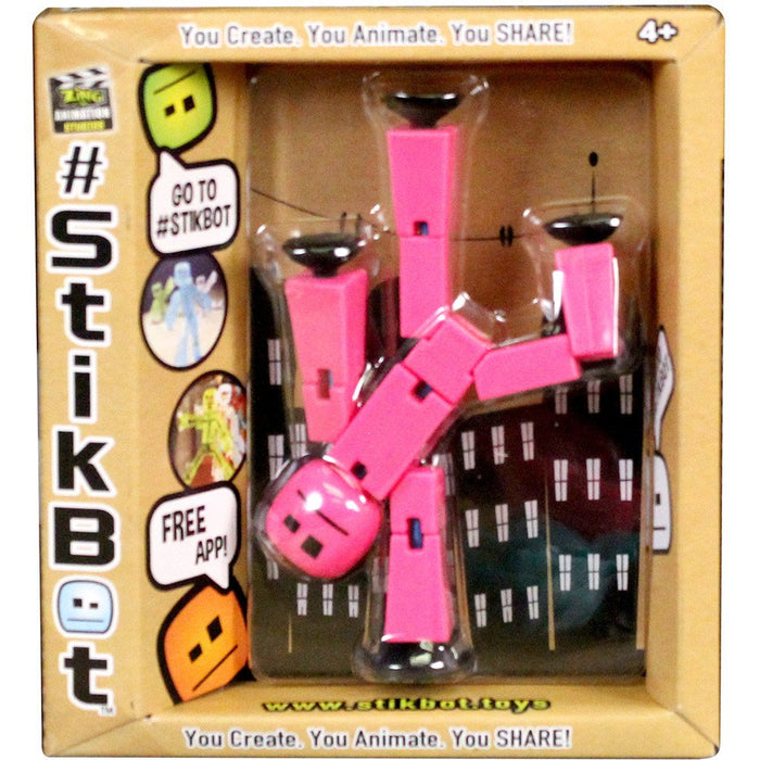 Stikbot Solid Pink Color