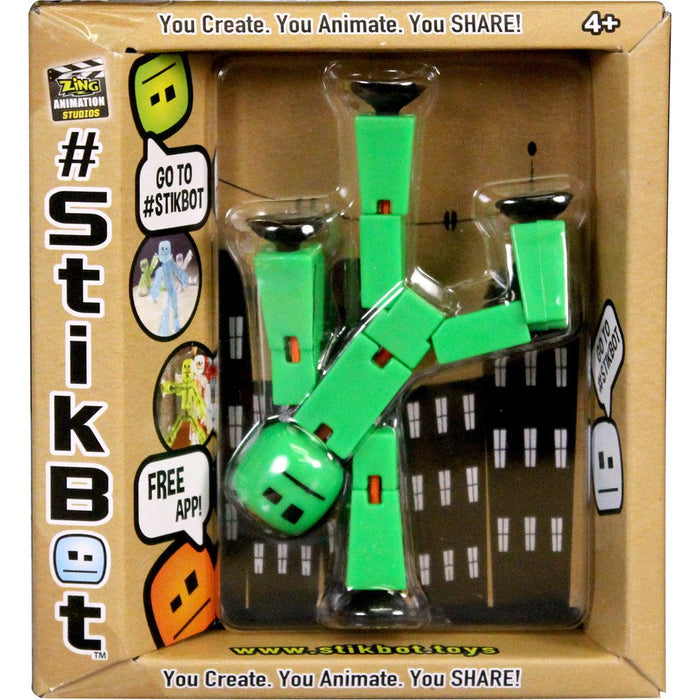 Stikbot Solid Green Color