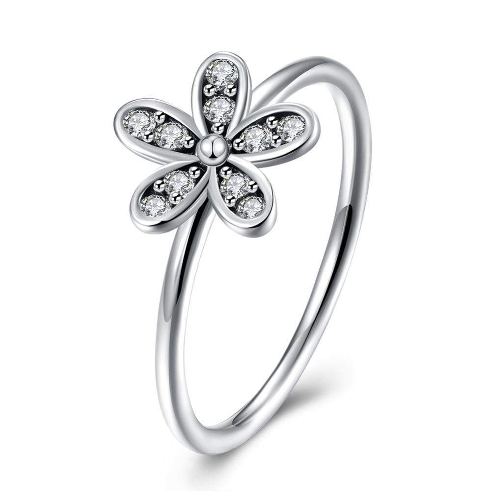 925 sterling silver daisy flower ring with clear cz crystals ebay 925 sterling silver daisy flower ring with clear cz crystals izmirmasajfo