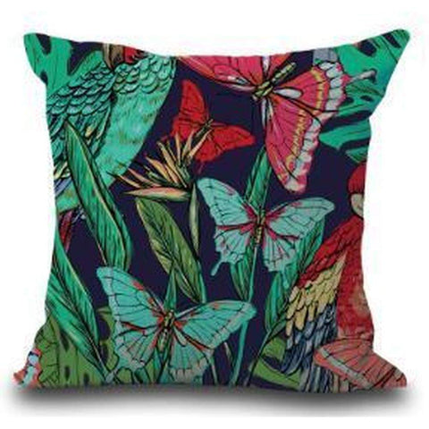 Cotton Linen Butterfly Furnishing Cushion Pillow Cover for Home Decoration AA13-Pillow Cover-Amare Tutto Jewellery
