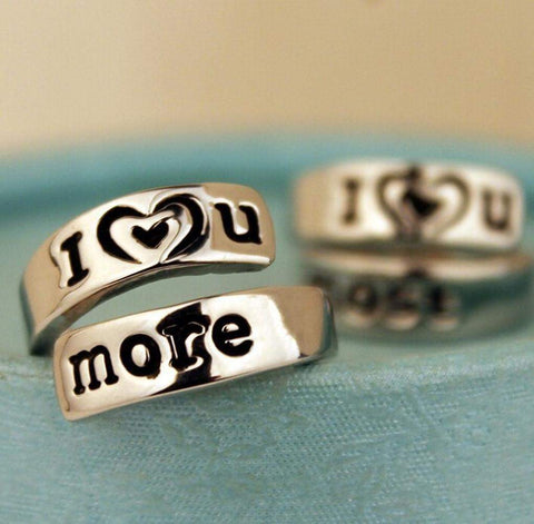 'I love you more' Promise Ring in Gold or Silver Plated-Rings-Amare Tutto Jewellery
