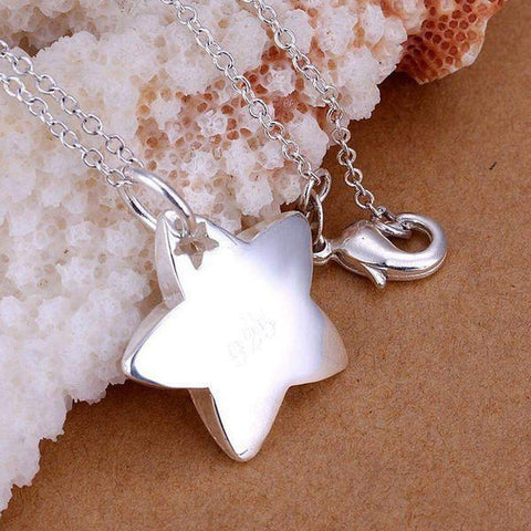 Silver Plated 925 Silver Bright Star Pendant Necklace and Chain | AU STOCK | Necklaces | Fashion Jewellery Amare Tutto