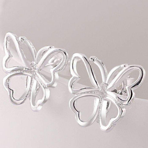 Silver Plated 925 Silver Butterfly Stud Earrings | AU STOCK-Earrings-Amare Tutto Jewellery