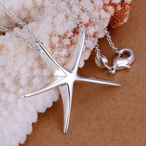 Silver Plated 925 Starfish Pendant Necklace and Chain | AU STOCK | Necklaces | Fashion Jewellery Amare Tutto