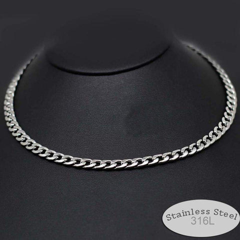 Stainless Steel 316L Mens Gothic Style Chain Necklace - 6mm or 4mm-Necklaces-Amare Tutto Jewellery