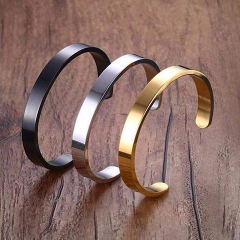 Stainless Steel Mens and Women Bracelet & Bangle in Silver / Gold / Black-Bracelets & Bangles-Amare Tutto Jewellery