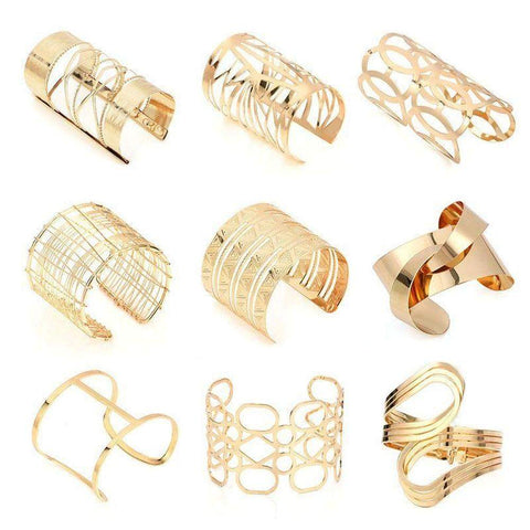 Statement Womens Cuff Bangles & Bracelets in Gold or Silver-Bracelets & Bangles-Amare Tutto Jewellery