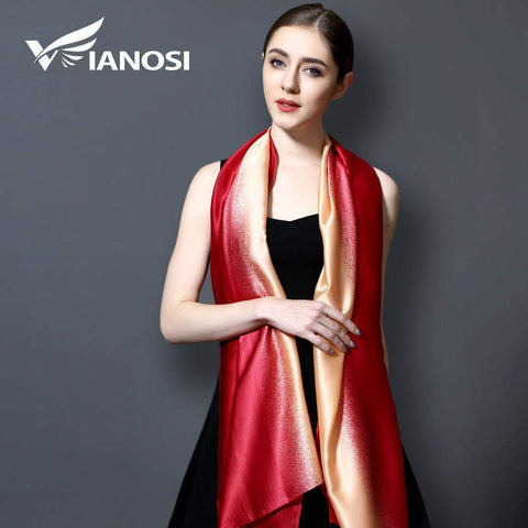 VIANOSI Bandana Gradient Silk Scarf Women Luxury Hijab Shawl Long Scarves Fashion Summer Scarf - Many Colours-Scarves-Amare Tutto Jewellery