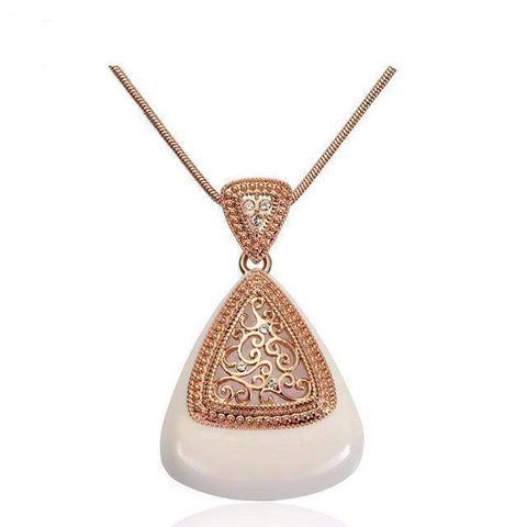 Viennois Rose Gold Vintage Hollow Pendant Necklaces for Women Necklaces & Pendants Jewelry | Necklaces | Fashion Jewellery Amare Tutto