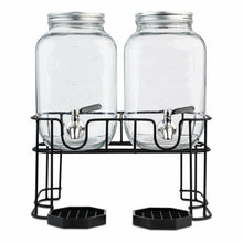 Load image into Gallery viewer, Dual Gallon Dispensers with Stand and Drip Trays