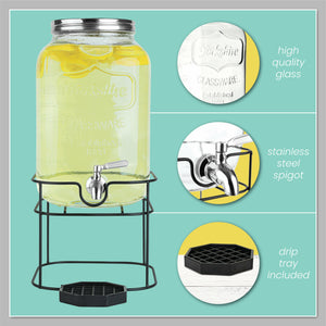 2 Gallon Beverage Dispenser with Stand