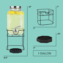 Load image into Gallery viewer, 1 Gallon Beverage Dispenser with Stand