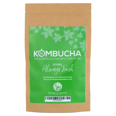 Live Kombucha SCOBY Starter Culture with Starter Tea