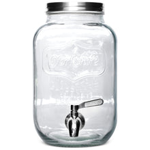 Load image into Gallery viewer, 1 Gallon Beverage Dispenser with Metal Spigot