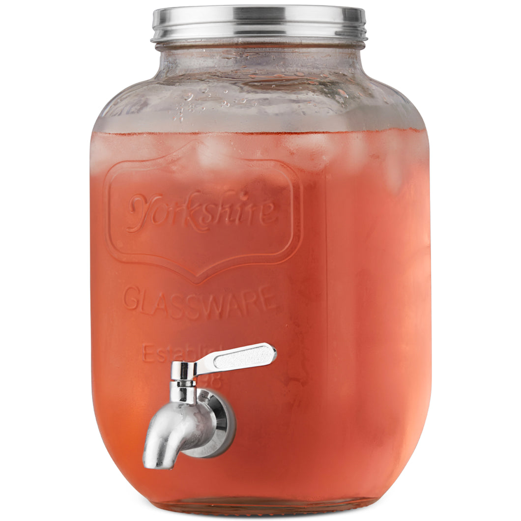 1 Gallon Beverage Dispenser with Metal Spigot
