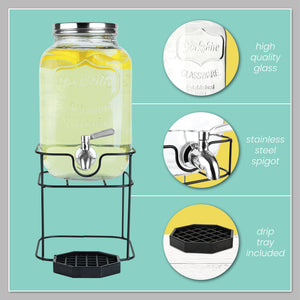 1 Gallon Beverage Dispenser with Stand