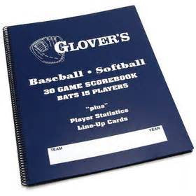 Glover's Plus Baseball/Softball Scorebook (BB-106)