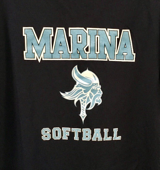 Marina Vikings Softball Hooded Navy Sweatshirt