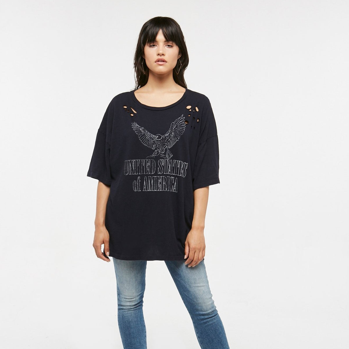 PROJECT SOCIAL T United States of America Oversized Tee