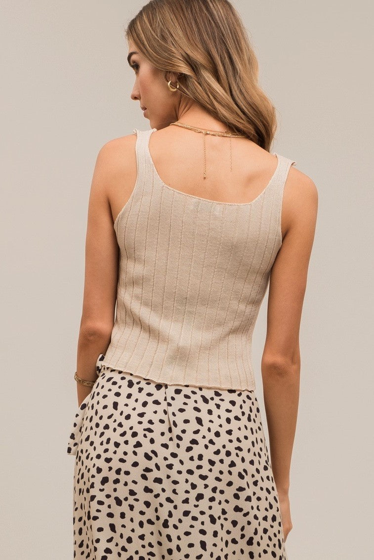 MOON RIVER Button Front Top